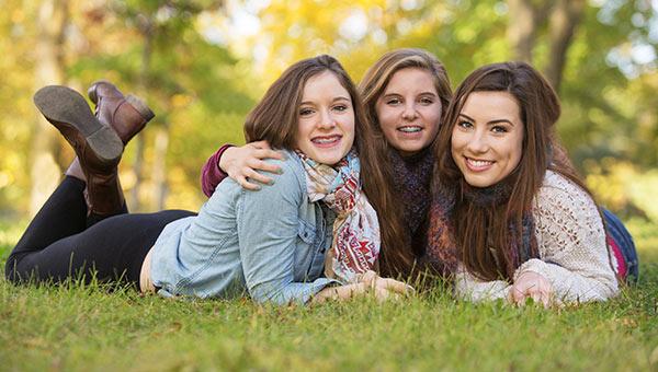 Teenage Girls with Braces Up North Orthodontics in Traverse City, MI